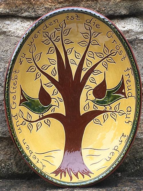 To Love Bowl - Pennsylvania German Folk Art -  SG870