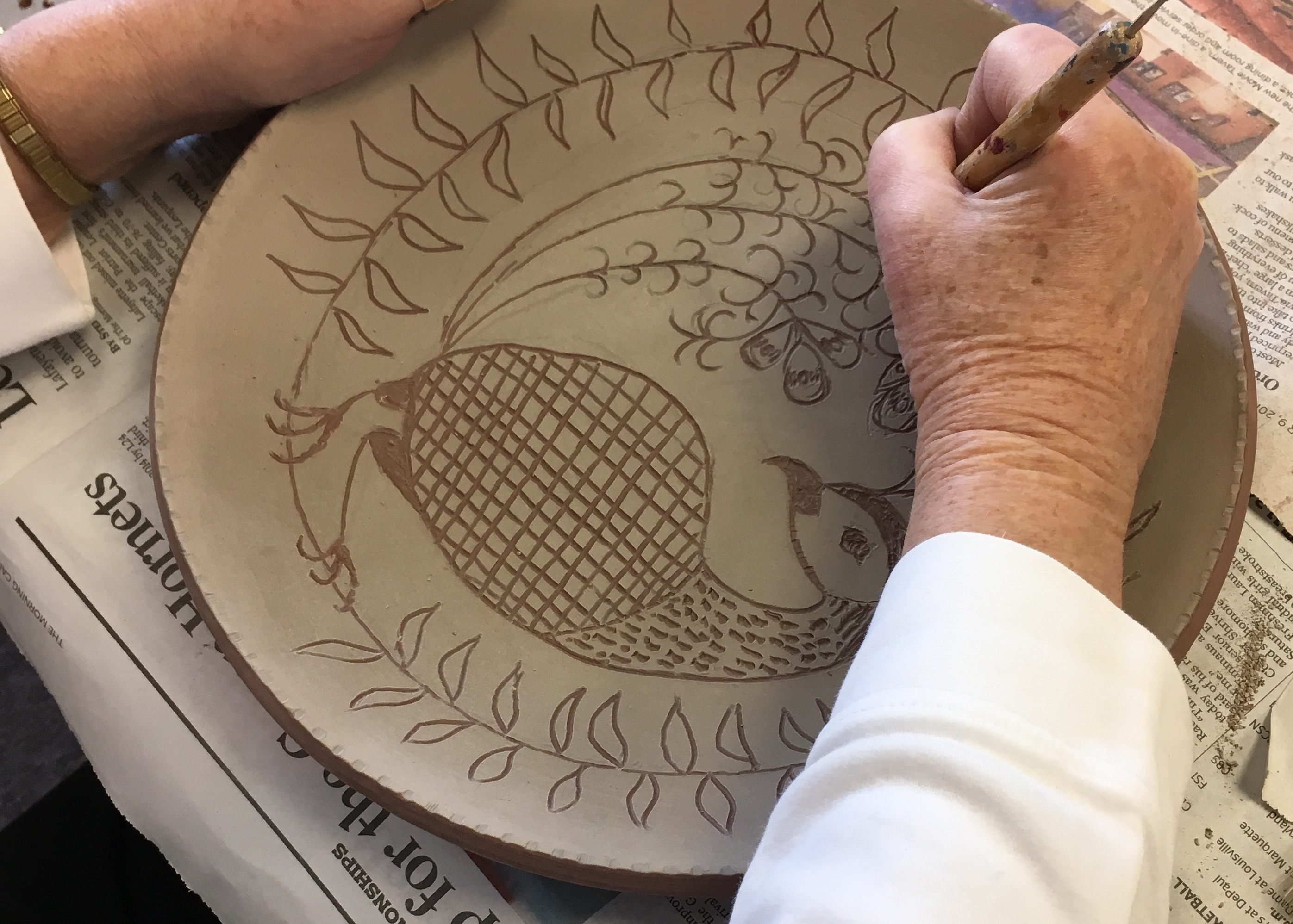 Sgraffito workshops for 6-12 folks