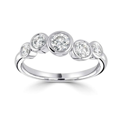 Five Stone Diamond Dress Ring