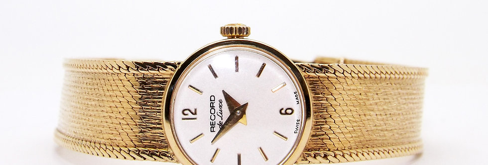 Record De Luxe, solid 9ct yellow gold watch