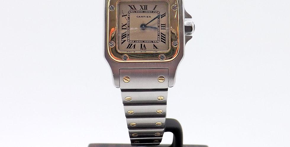 Cartier Santos 18ct yellow gold & steel