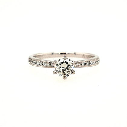 Diamond Solitaire with Diamond Shoulders