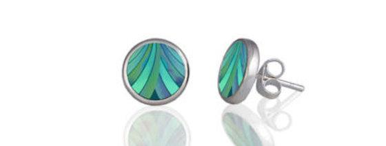 Ribbon Turquoise Stud Earrings
