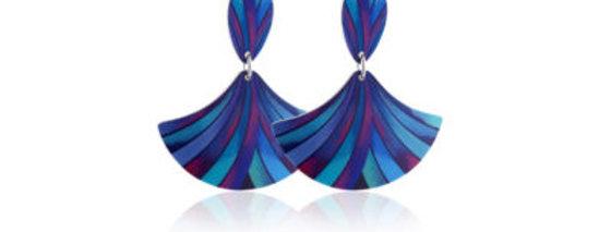 Ribbon Blue Earrings