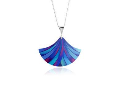 Ribbon Blue Pendant