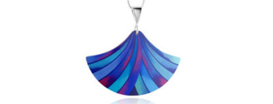 Ribbon Blue Pendant