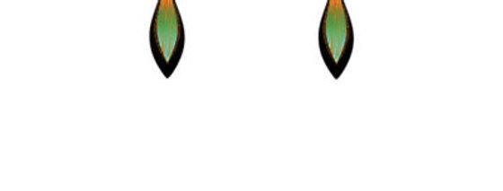 Harmony Green earrings small