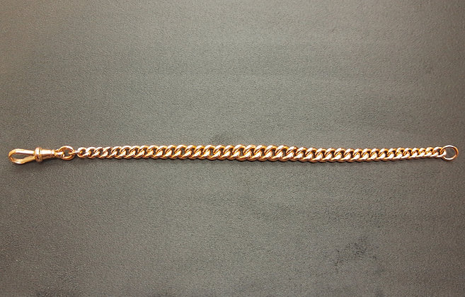 9ct red gold graduated albert chain bracelet