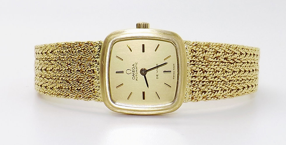 Omega De Ville Solid 18ct yellow gold automatic watch