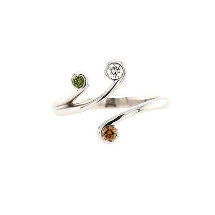 Multi Colour Diamond Dress Ring