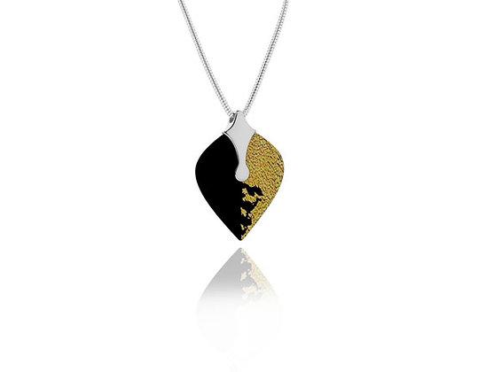 Heart Black Sterling Silver Pendant