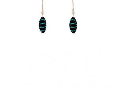 Bella Noir Blue earrings