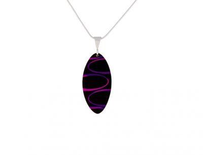 Bella Noir Purple Pendant