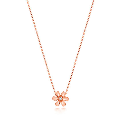 Diamond Daisy Necklace