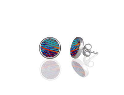 Weave Turquoise Stud Earring