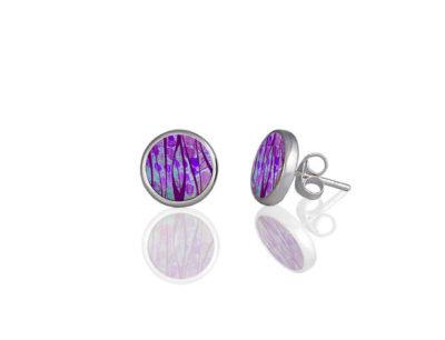 Honesty Purple Stud Earrings