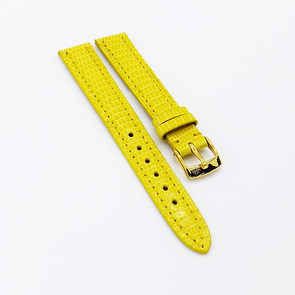 Ladies 12mm Yellow Genuine Lizard watch strap