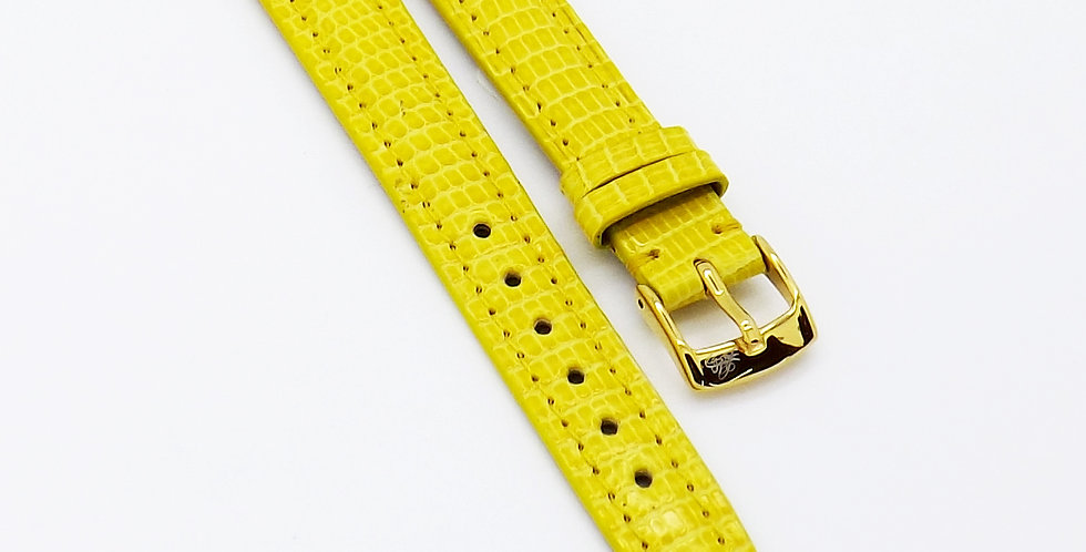 Ladies 14mm Yellow Genuine Lizard watch strap