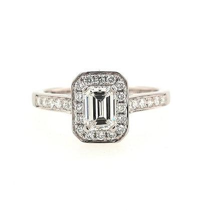 Emerald Cut Diamond Cluster