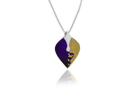 Heart Purple Sterling Silver Pendant
