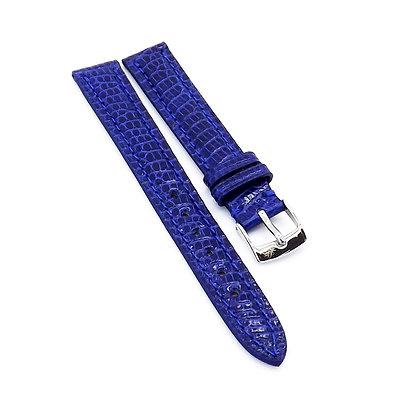 Ladies 14mm Blue Genuine Lizard watch strap