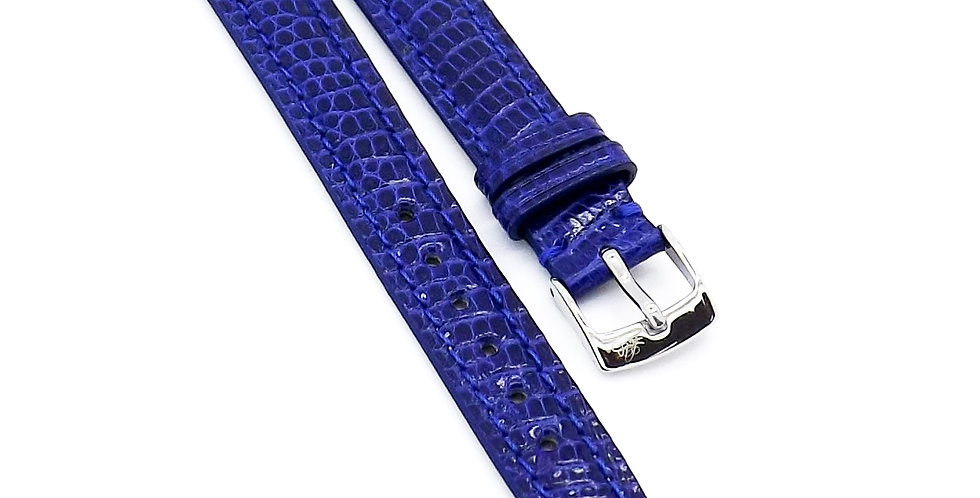 Ladies 12mm Blue Genuine Lizard watch strap