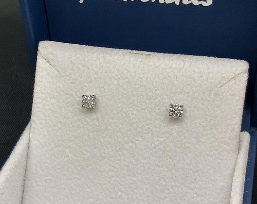 42pt Diamond Platinum Studs