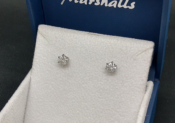 1ct Diamond Platinum Studs