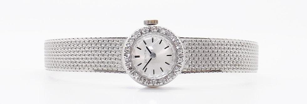Zenith 18ct white gold and diamond watch