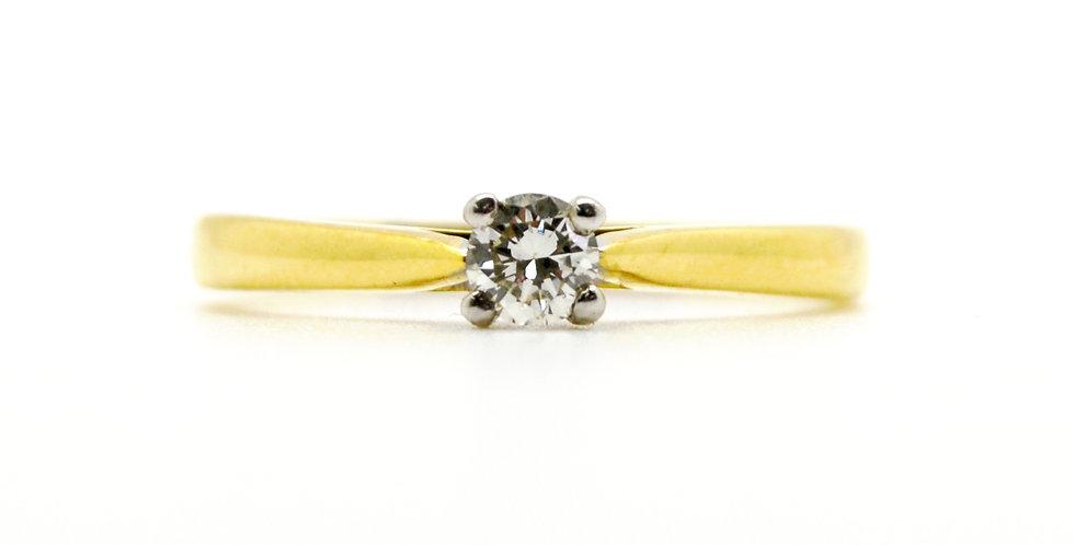 18ct single stone diamond ring