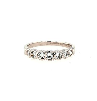 Graduated Diamond Half Eternity Ring