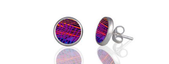 Weave Blue Stud Earring