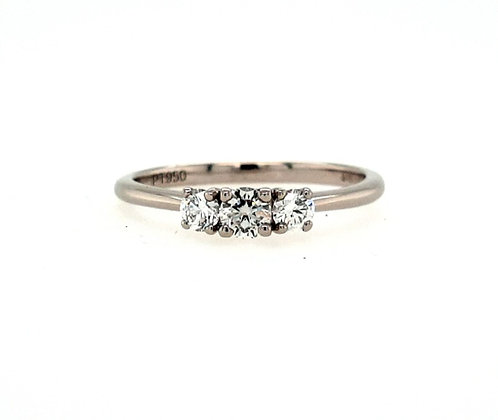 Platinum Diamond 3 Stone Ring