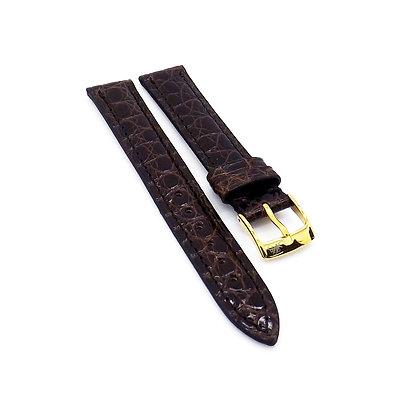 Ladies 15mm Brown Genuine Crocodile watch strap