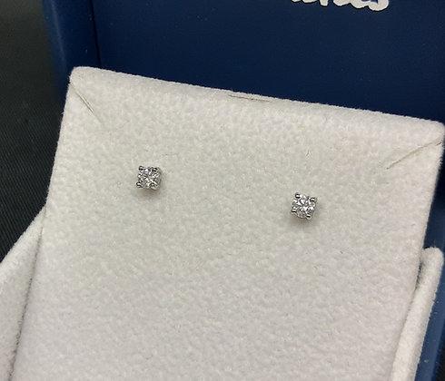 30pt Diamond Platinum Studs
