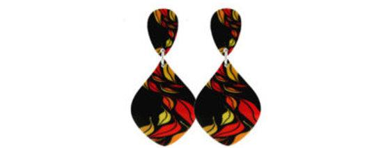 Seasons Red Earrings