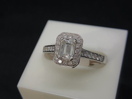 Emerald Cut Diamond Cluster