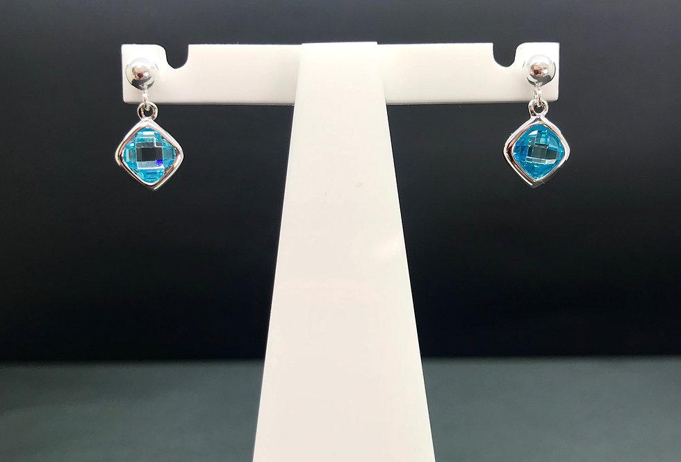 Electric Blue Single Drop Earrings