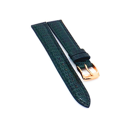Ladies 16mm Green Genuine Lizard watch strap