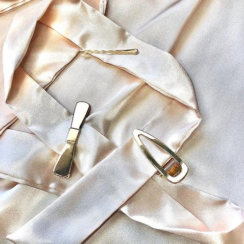 Three Piece Hair Clip Set