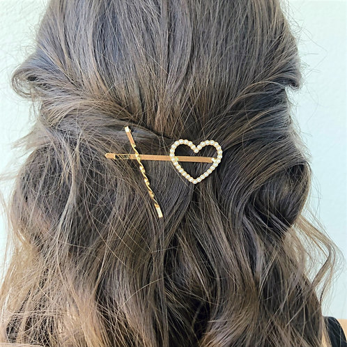 Three Piece Rhinestone Bobby Pins