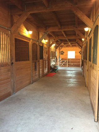 Interior of our Barn