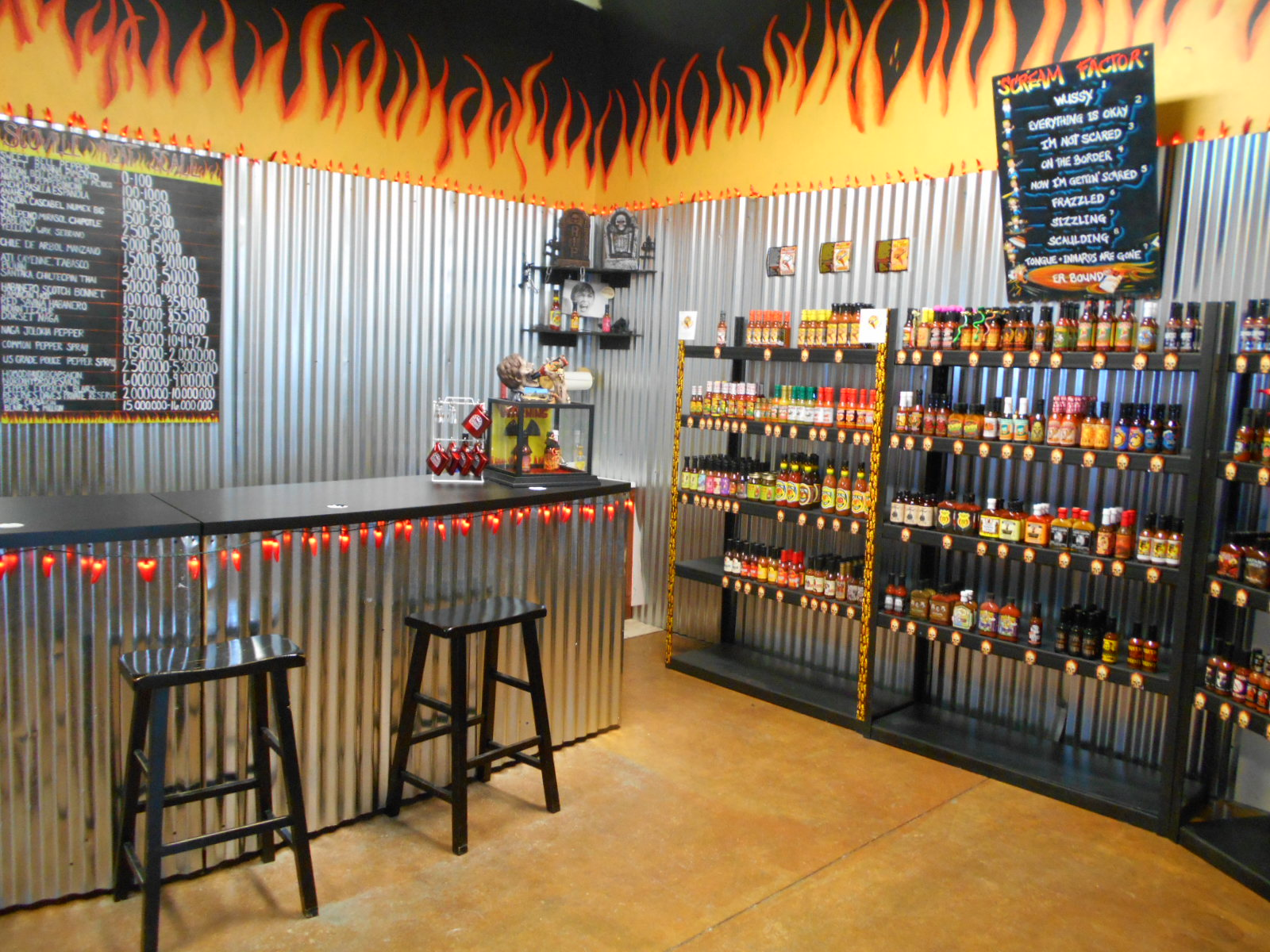 THE hot sauce bar!