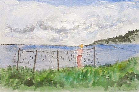 Pojke och fisknät, Båstad