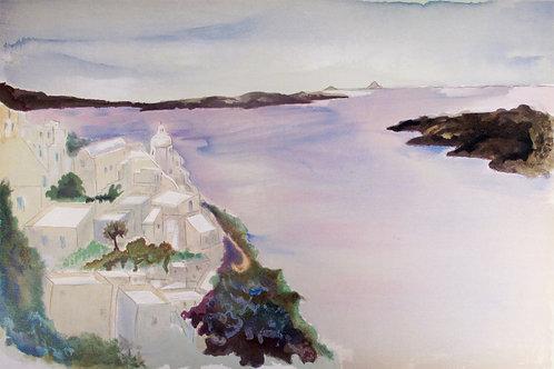 "Astri Bergman Taube ""Havets vinblåa våg.."""