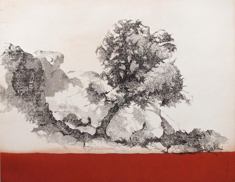 Cabreras III, etsning, Bild 44x56 cm, Blad 57x75 cm, upplaga 50