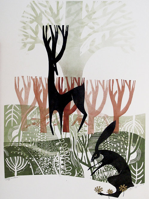 "Diane Griffiths ""Stag and Hare"""