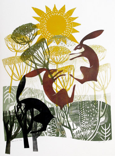 Hares and Sun