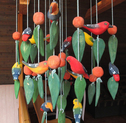 Fågelskulptur