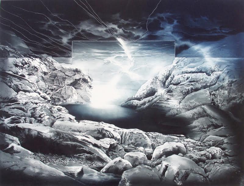 Une nuit a Vivada, mezzotint akvatint, Bild 63x83 cm, Blad 79x87 cm, upplaga 99
